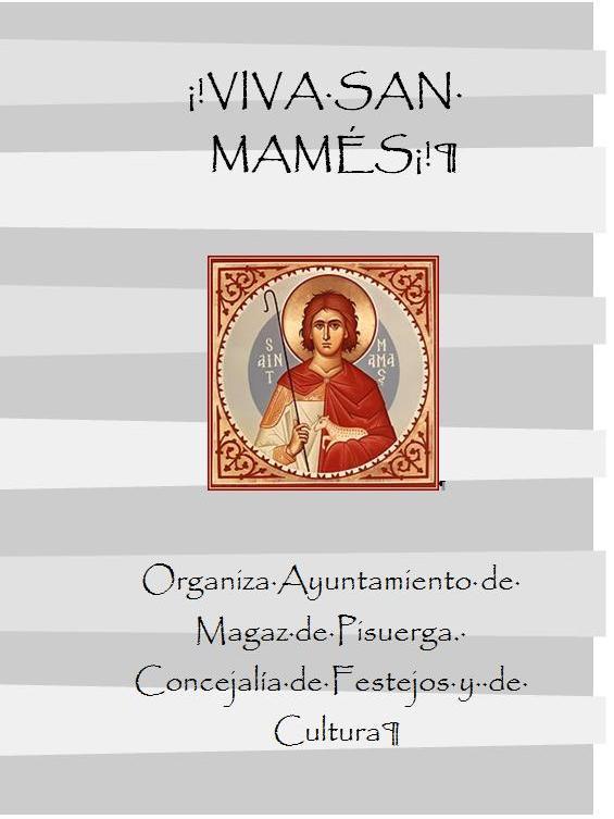 Programa de fiestas San Mamés 2012