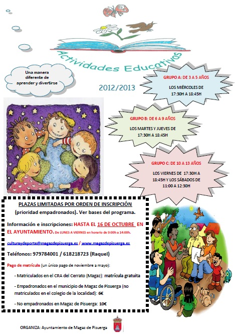 Actividades educativas 2012/2013