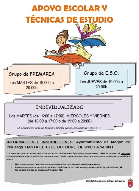 Apoyo escolar y técnicas de estudio 2012/2013