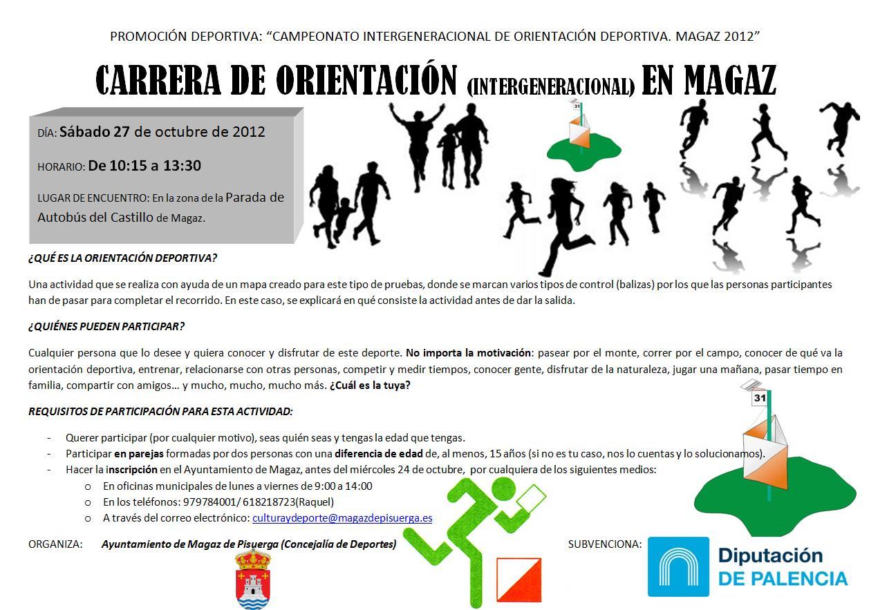 CARRERA DE ORIENTACIÓN (INTERGENERACIONAL)