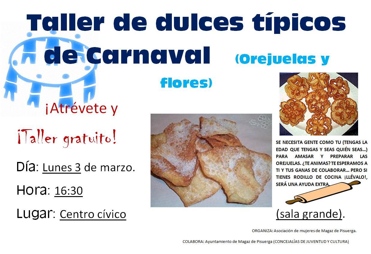 Taller de dulces típicos del Carnaval 2014