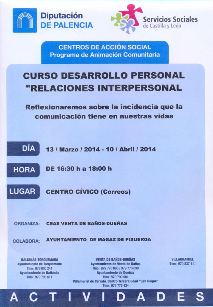 Curso desarrollo personal «Relaciones nterpersonales»