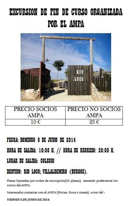 Excursión fin de curso organizada por el AMPA