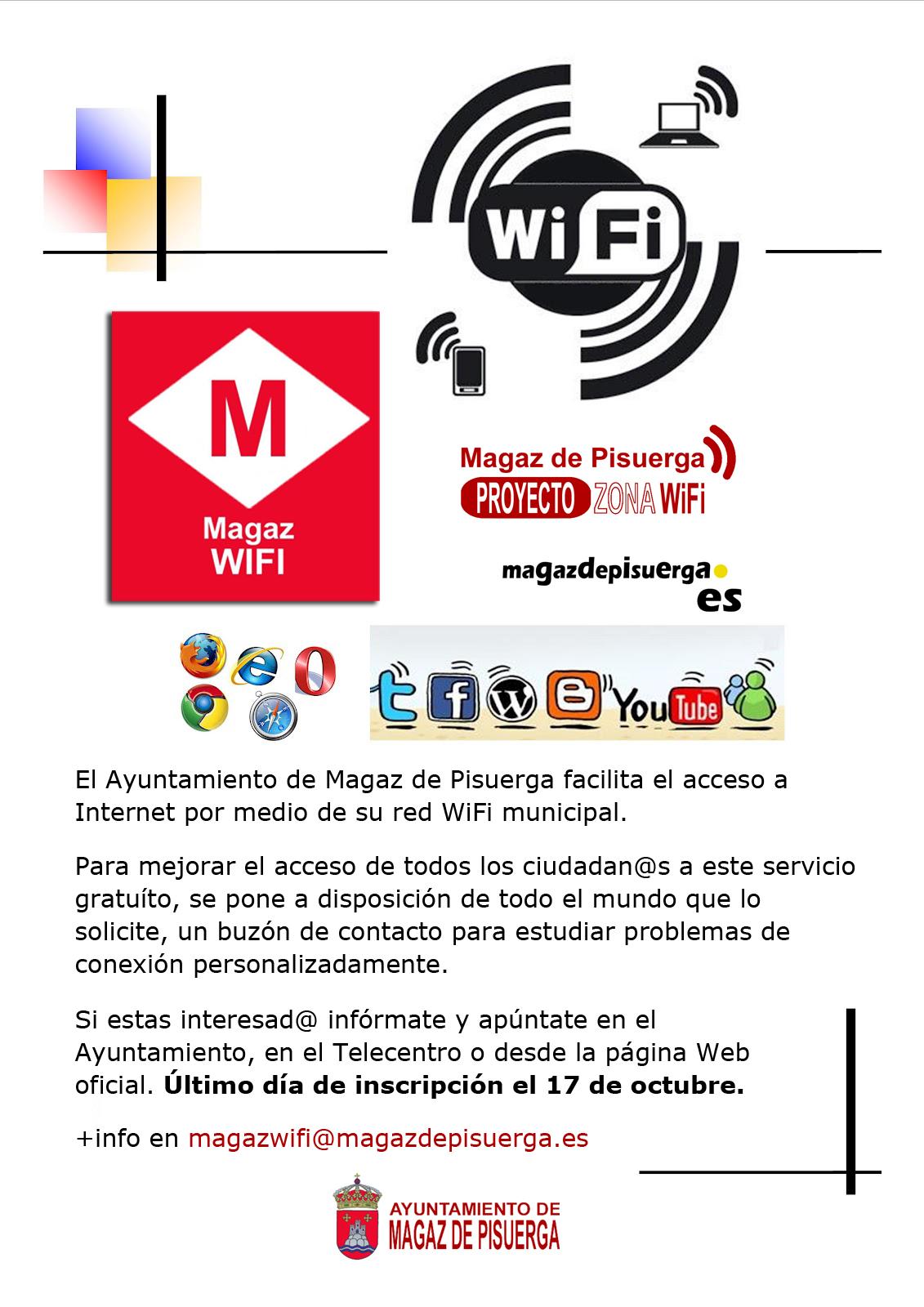Información sobre la cobertura Wifi