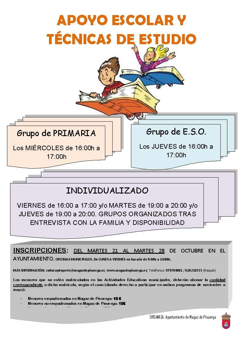 Actividades de infancia y apoyo escolar