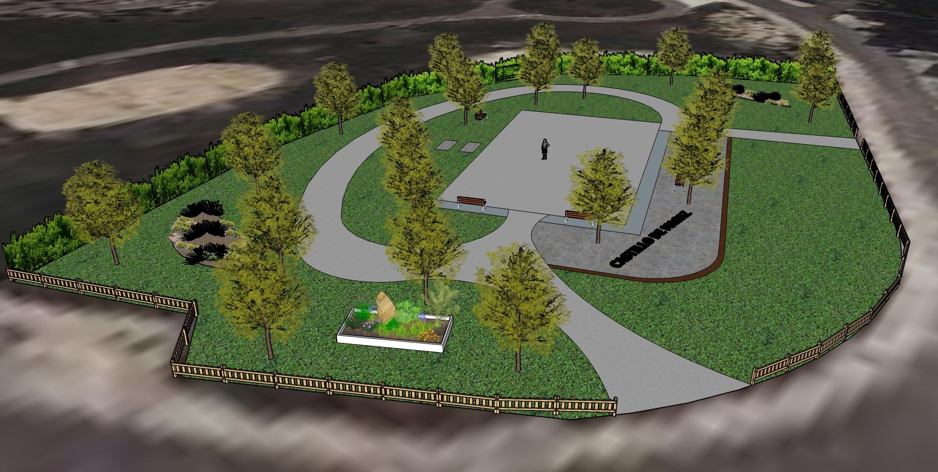 Realización de obras para el acondicionamiento del entorno del parque infantil en calle del Euro