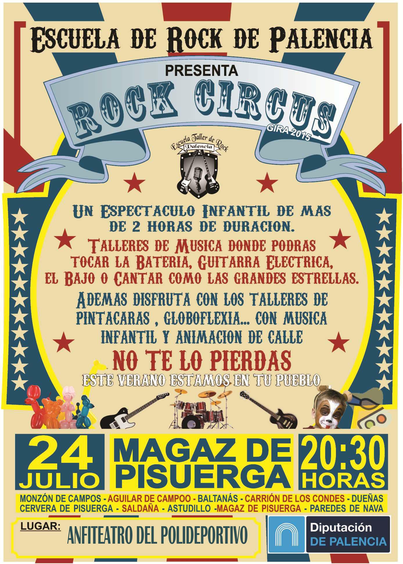 Escuela de rock en Magaz de Pisuerga