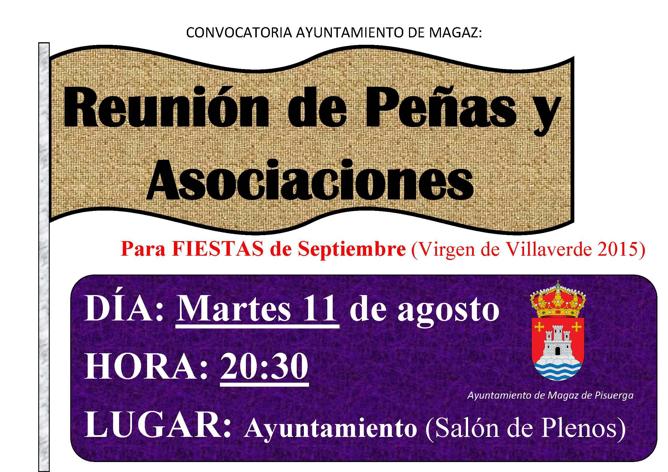 Reunión de peñas y asociaciones (Fiestas de septiembre)
