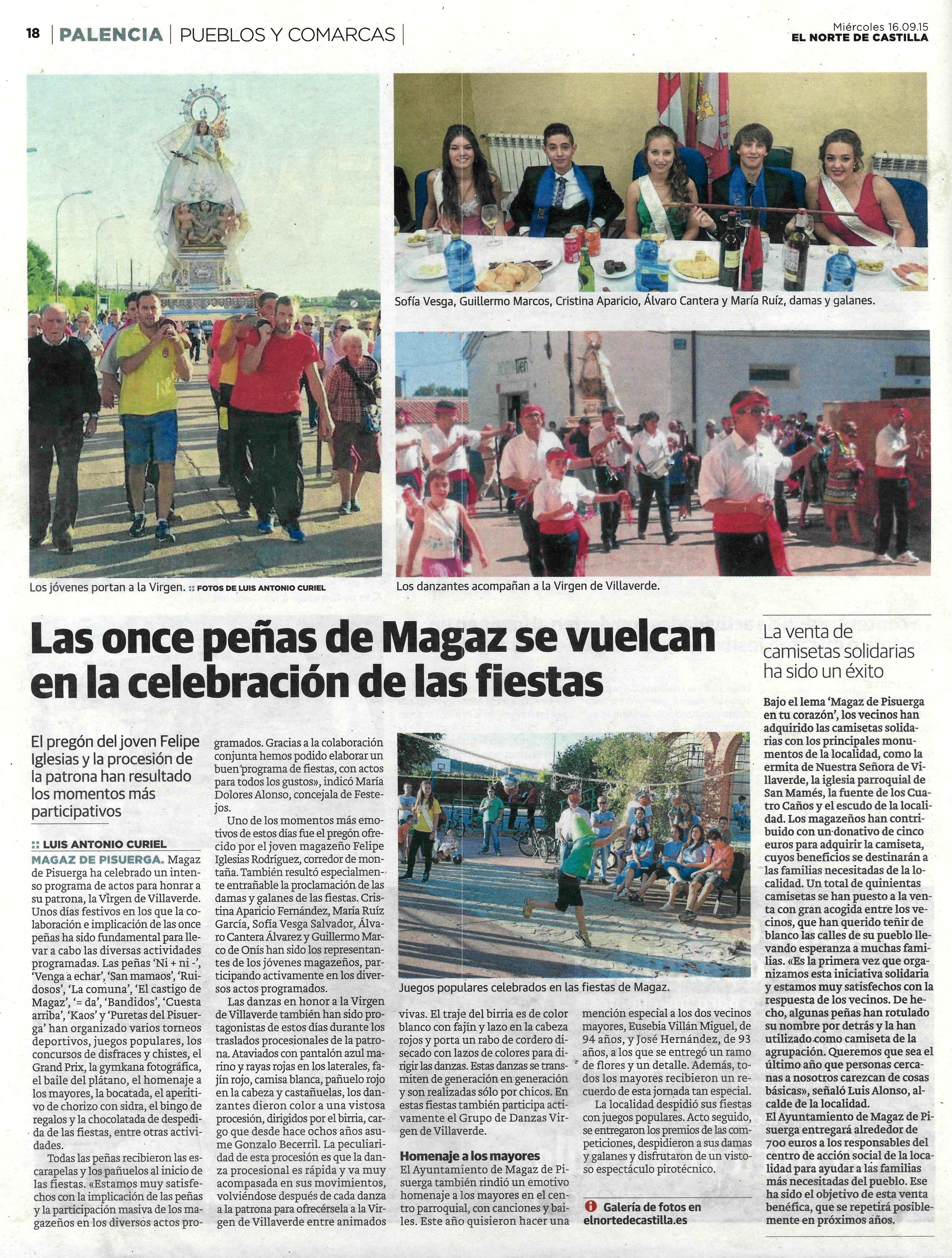 Magaz de Pisuerga se vuelca en la celebración de las fiestas