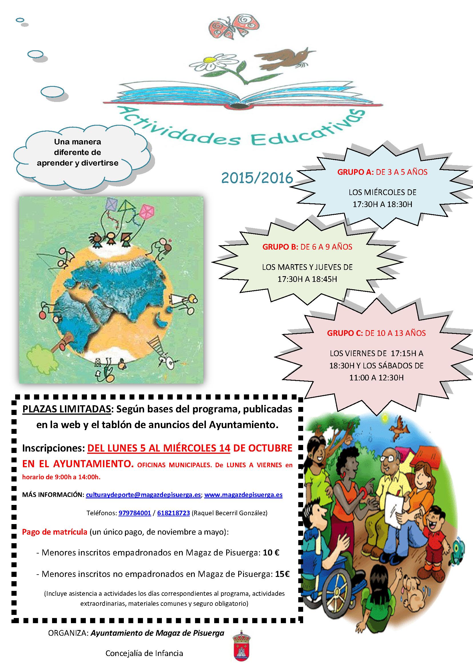 Programa de «Actividades educativas» destinadas a infancia-juventud