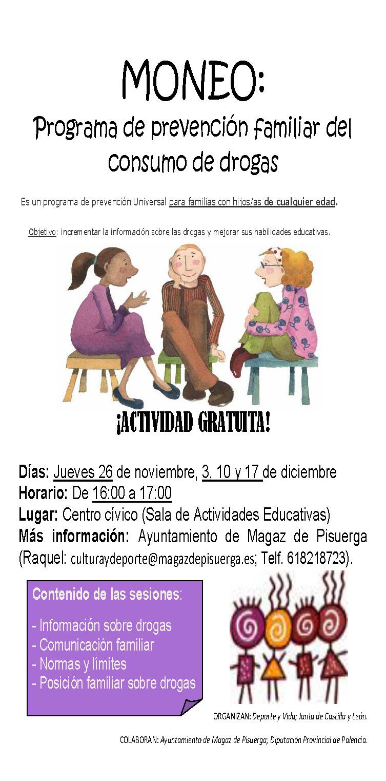 MONEO: Programa de prevención familiar del consumo de drogas