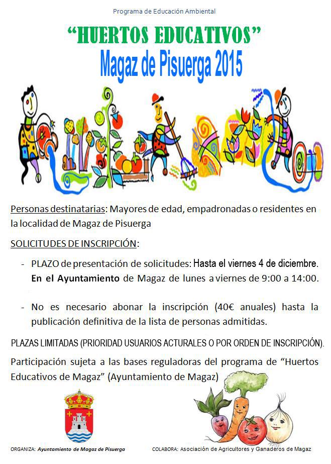 Huertos educativos MAGAZ DE PISUERGA 2015