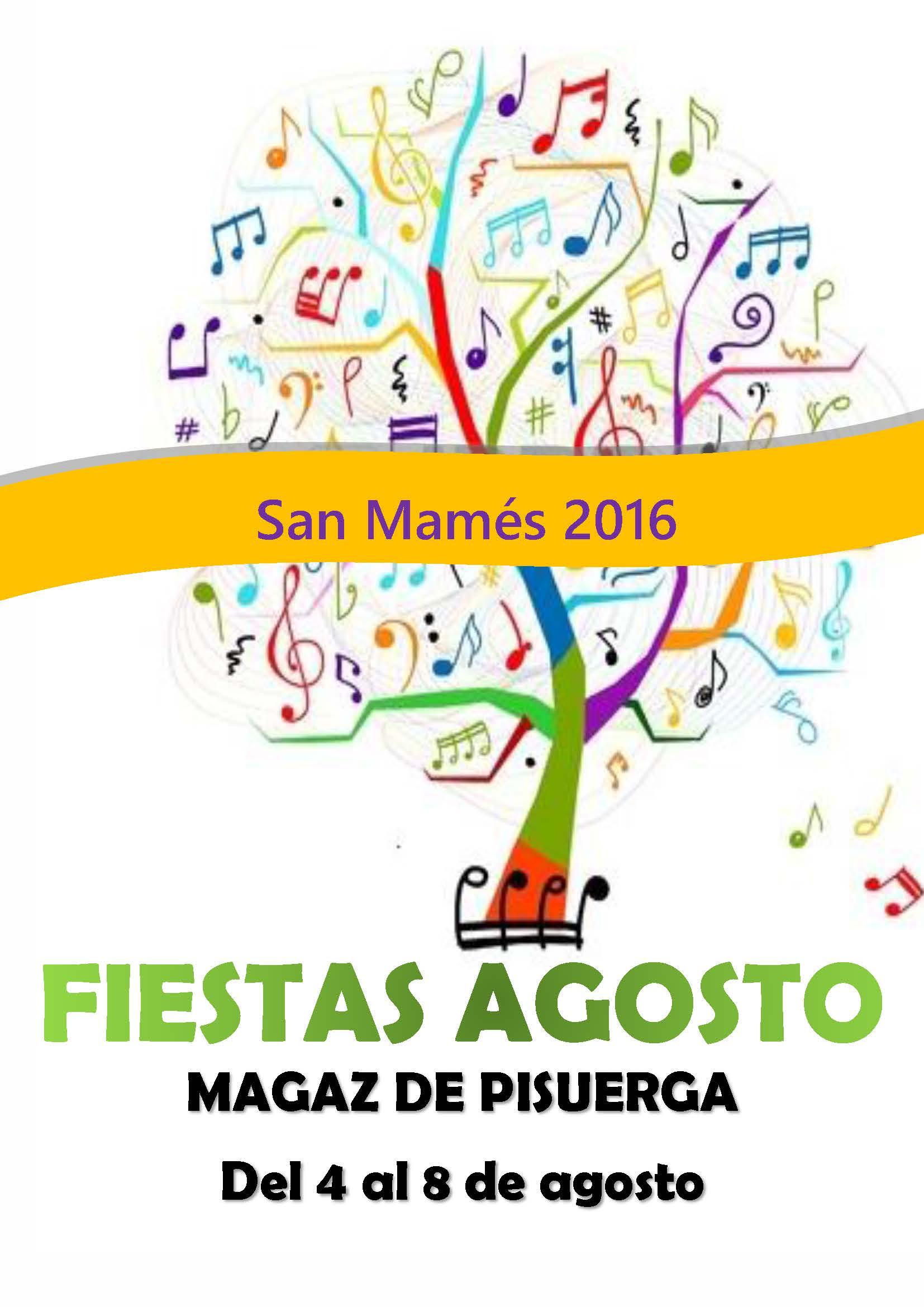 Programación de las fiestas «San Mamés 2016»