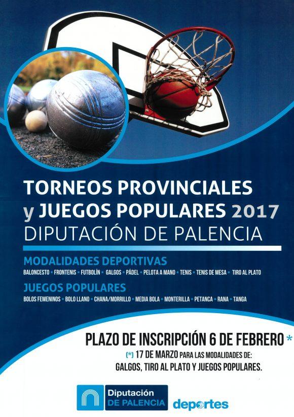 Torneos provinciales y juegos populares 2017