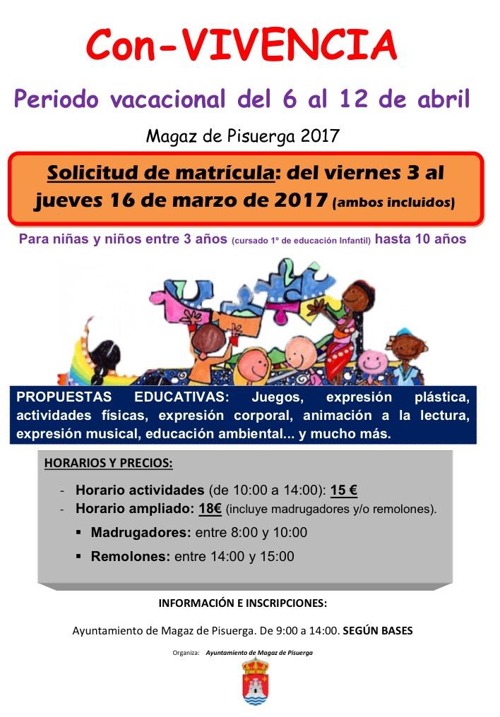"""Listado de admitidos en el programa """"Con-VIVENCIA"""" Periodo del 6 al 12 de abril de 2017"""