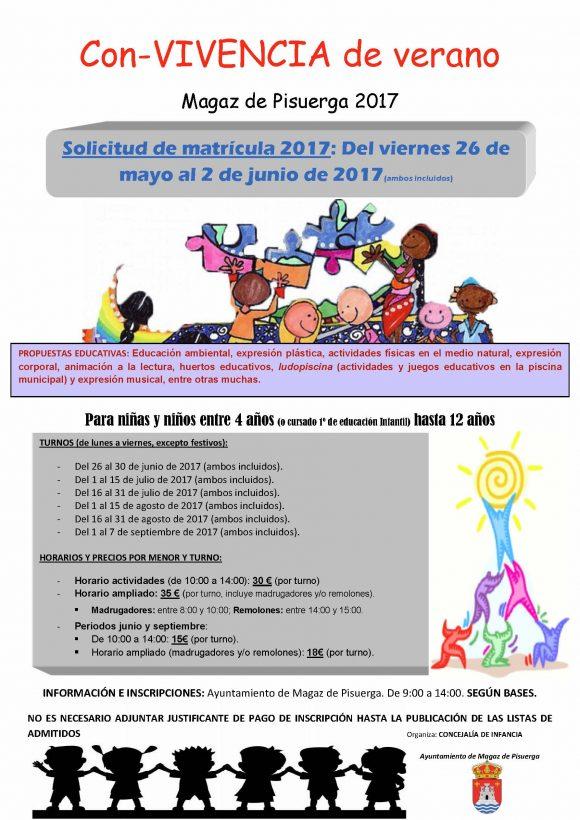 Cartel con-VIVENCIA de verano 2017