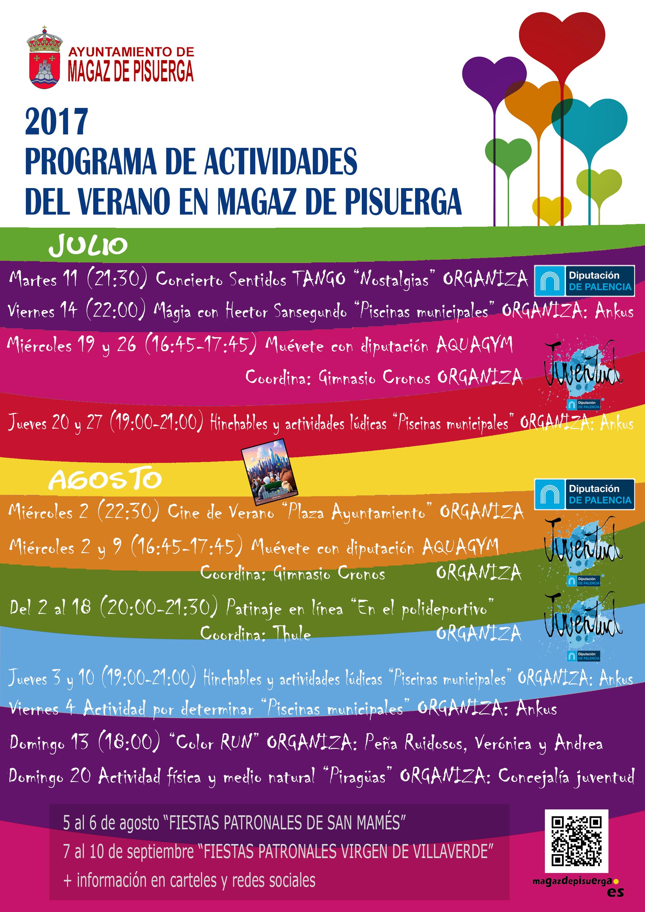 Programa de actividades del verano en Magaz de Pisuerga 2017