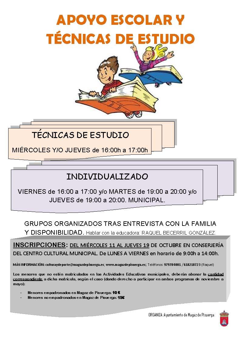 Aviso de admitidos en programas de actividades educativas, apoyo escolar y actividades juveniles