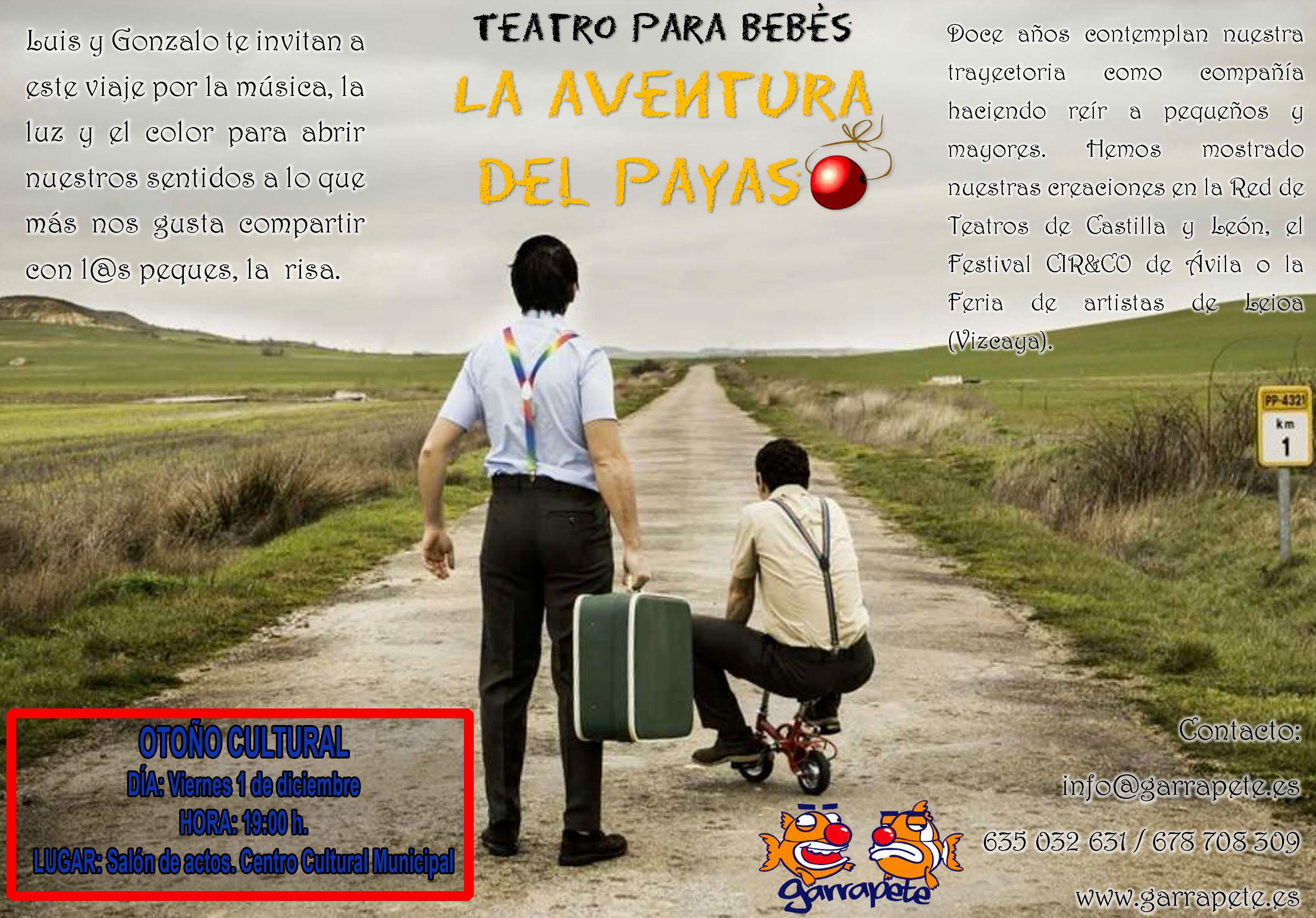 OTOÑO CULTURAL «La aventura del Payaso» – Garrapete