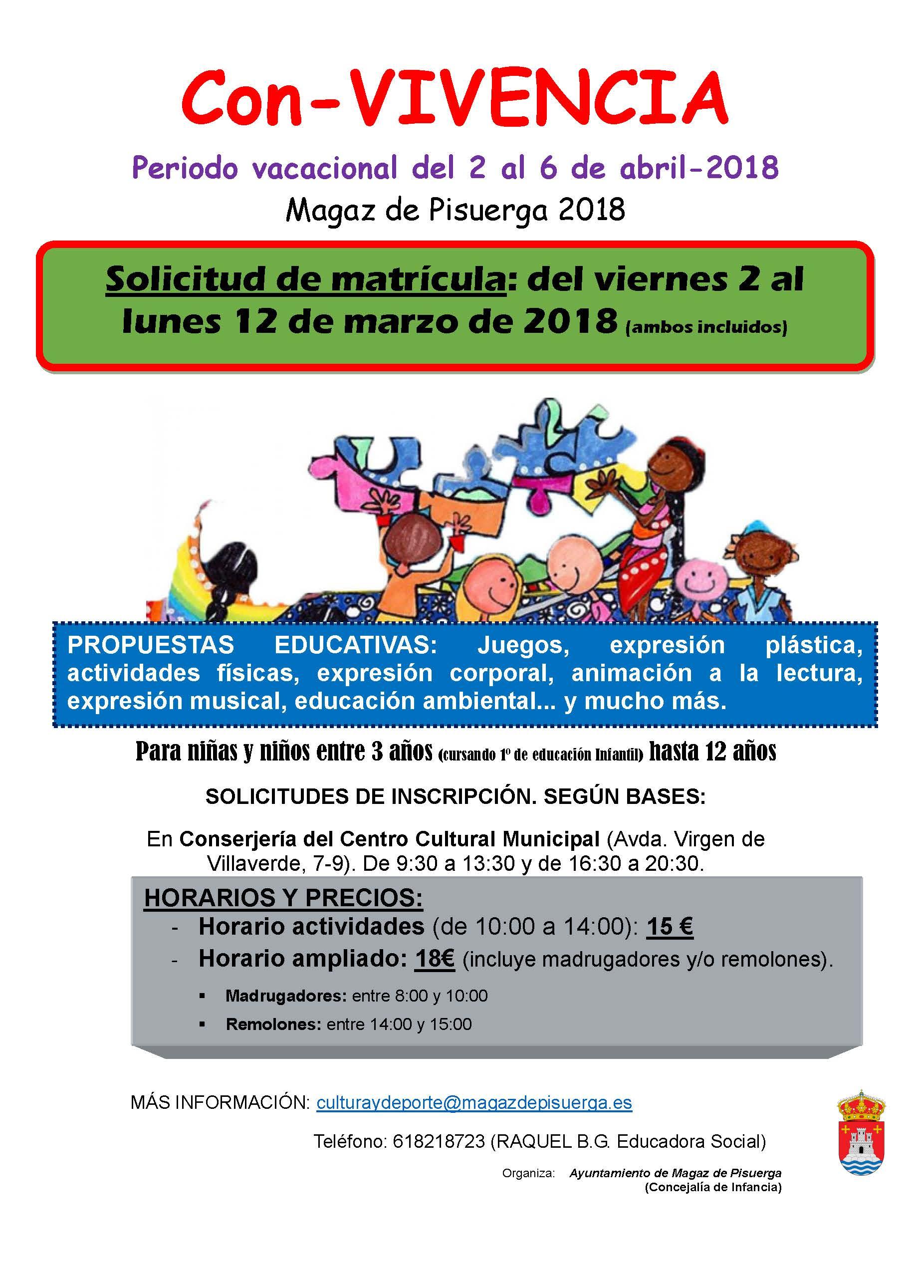 """Programa """"CON-VIVENCIA DE VACACIONES. ABRIL 2018"""""""