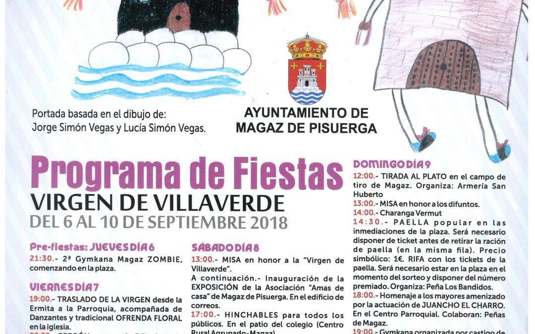 Cartel – programación de las fiestas «Virgen de Villaverde» 2018
