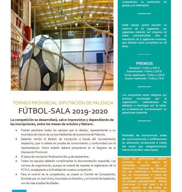 Torneo Diputación Provincial de Palencia de Fútbol Sala 2019/2020
