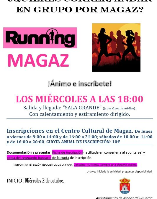 Abierto plazo para inscribirse en «Running Magaz»