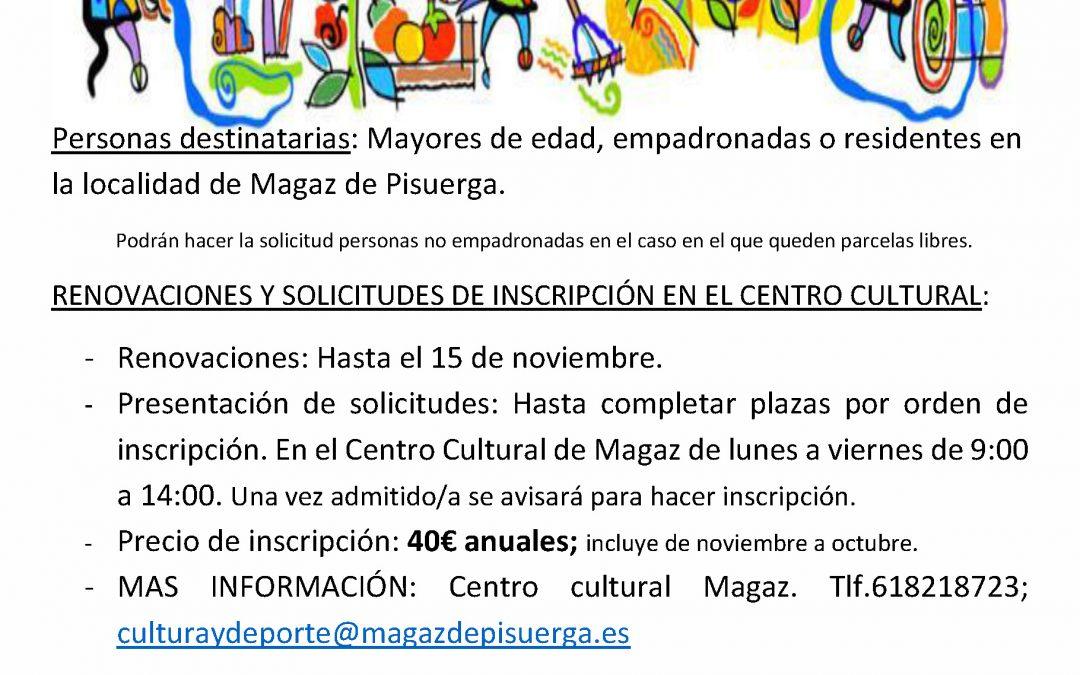 Huertos Educativos 2019/2020
