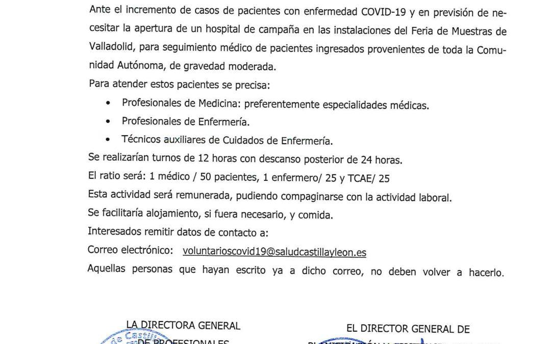 Oferta Laboral URGENTE COVID-19