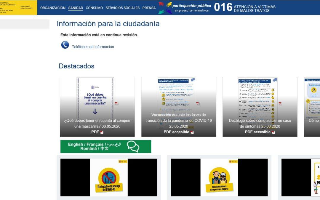 Materiales informativos para la ciudadanía Covid-19