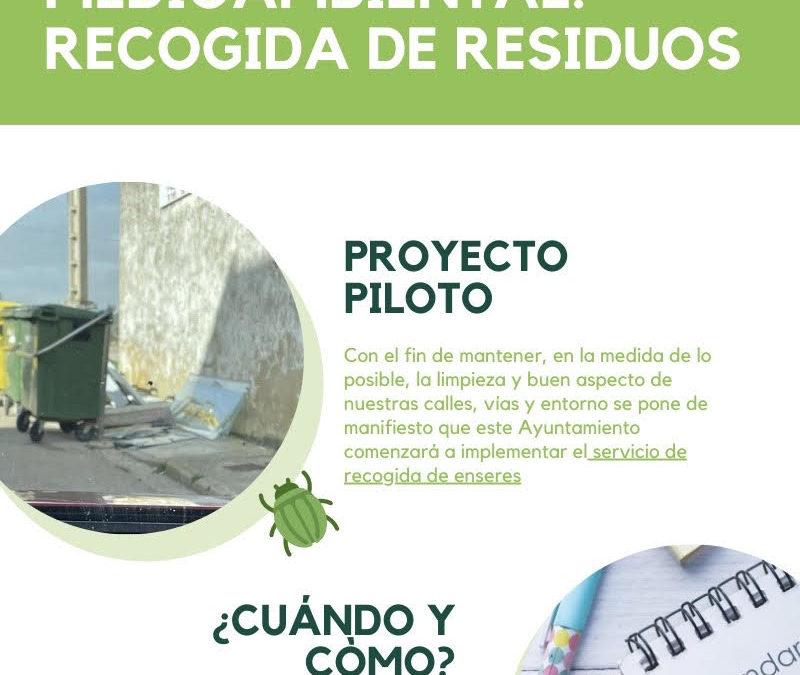 Campaña de sensibilizacion medioambiental: recogida de residuos