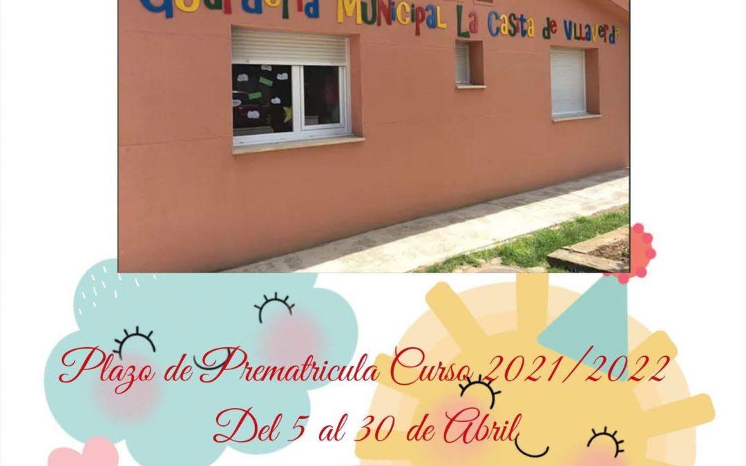 Plazo de prematrícula curso 2021-2022 Guardería – La Casita de Villaverde